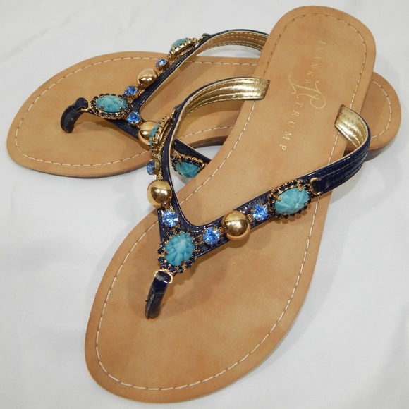 b762e41ed3d9 Ivanka Trump Shoes - Ivanka Trump Jeweled Sandals size 8.5m